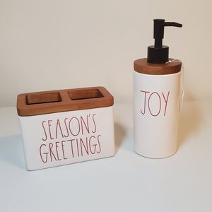 New Rae Dunn Christmas Bathroom Set